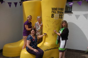 July 2014 Royal Welsh welly signing 3