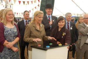 The Countess of Wessex tries her hand at our interactive game, Keep Clive Alive.